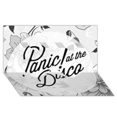 Panic At The Disco Flowers Twin Hearts 3d Greeting Card (8x4) by Onesevenart
