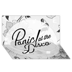 Panic At The Disco Flowers Twin Heart Bottom 3d Greeting Card (8x4) by Onesevenart
