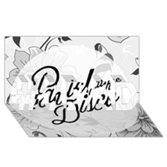Panic At The Disco Flowers #1 Dad 3d Greeting Card (8x4) by Onesevenart