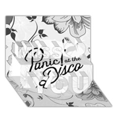 Panic At The Disco Flowers Miss You 3d Greeting Card (7x5) by Onesevenart