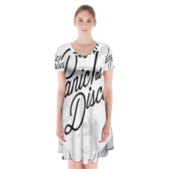 Panic At The Disco Flowers Short Sleeve V-neck Flare Dress by Onesevenart