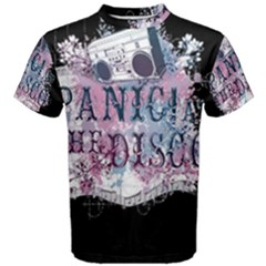 Panic At The Disco Art Men s Cotton Tee by Onesevenart