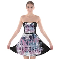 Panic At The Disco Art Strapless Bra Top Dress by Onesevenart