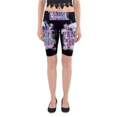 Panic At The Disco Art Yoga Cropped Leggings by Onesevenart
