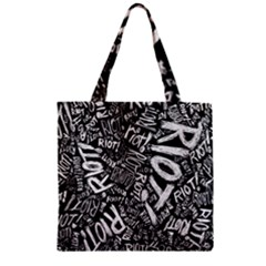 Panic At The Disco Lyric Quotes Retina Ready Zipper Grocery Tote Bag by Onesevenart