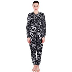 Panic At The Disco Lyric Quotes Retina Ready Onepiece Jumpsuit (ladies)  by Onesevenart