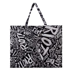 Panic At The Disco Lyric Quotes Retina Ready Zipper Large Tote Bag by Onesevenart