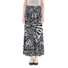 Panic At The Disco Lyric Quotes Retina Ready Maxi Skirts by Onesevenart