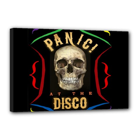 Panic At The Disco Poster Canvas 18  X 12  by Onesevenart