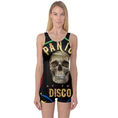 Panic At The Disco Poster One Piece Boyleg Swimsuit by Onesevenart