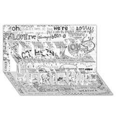 Panic At The Disco Lyrics Best Friends 3d Greeting Card (8x4) by Onesevenart