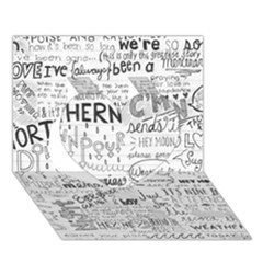Panic At The Disco Lyrics Heart 3d Greeting Card (7x5) by Onesevenart