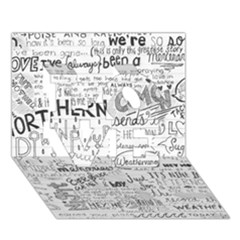 Panic At The Disco Lyrics Love 3d Greeting Card (7x5) by Onesevenart