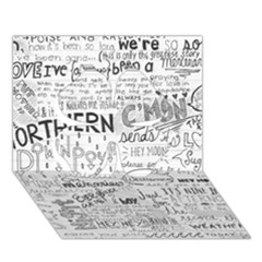 Panic At The Disco Lyrics Clover 3d Greeting Card (7x5) by Onesevenart