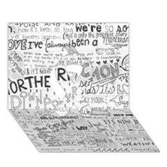 Panic At The Disco Lyrics Ribbon 3d Greeting Card (7x5) by Onesevenart