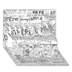 Panic At The Disco Lyrics Miss You 3d Greeting Card (7x5) by Onesevenart