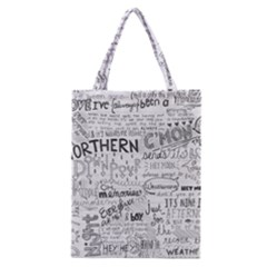 Panic At The Disco Lyrics Classic Tote Bag by Onesevenart