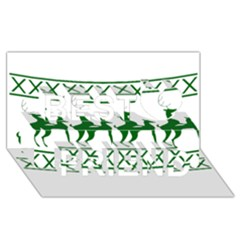 Humping Reindeer Ugly Christmas Best Friends 3d Greeting Card (8x4) by Onesevenart