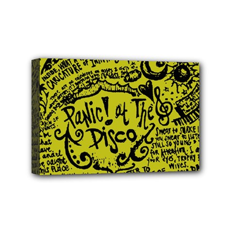 Panic! At The Disco Lyric Quotes Mini Canvas 6  X 4  by Onesevenart