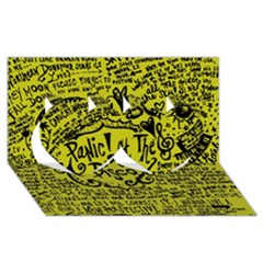 Panic! At The Disco Lyric Quotes Twin Hearts 3d Greeting Card (8x4) by Onesevenart