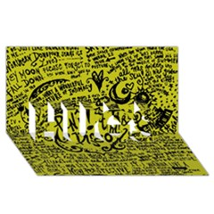 Panic! At The Disco Lyric Quotes Hugs 3d Greeting Card (8x4) by Onesevenart