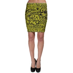 Panic! At The Disco Lyric Quotes Bodycon Skirt by Onesevenart
