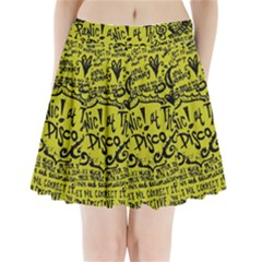 Panic! At The Disco Lyric Quotes Pleated Mini Skirt by Onesevenart