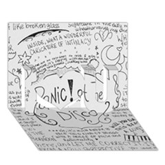 Panic! At The Disco Lyrics I Love You 3d Greeting Card (7x5) by Onesevenart
