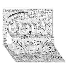 Panic! At The Disco Lyrics You Did It 3d Greeting Card (7x5) by Onesevenart