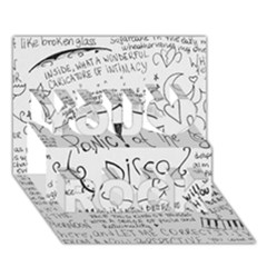 Panic! At The Disco Lyrics You Rock 3d Greeting Card (7x5) by Onesevenart