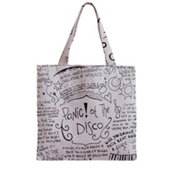 Panic! At The Disco Lyrics Zipper Grocery Tote Bag by Onesevenart