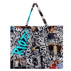 Panic! At The Disco College Zipper Large Tote Bag by Onesevenart