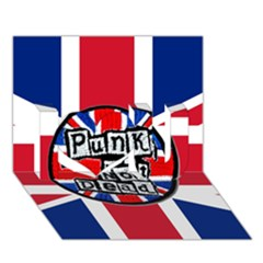 Punk Not Dead Music Rock Uk United Kingdom Flag I Love You 3d Greeting Card (7x5)