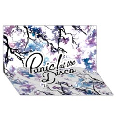 Panic! At The Disco Twin Heart Bottom 3d Greeting Card (8x4) by Onesevenart