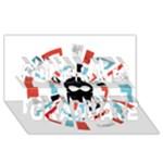 Twenty One Pilots Congrats Graduate 3D Greeting Card (8x4)