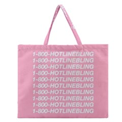 1 800 Hotline Bling Zipper Large Tote Bag by Onesevenart