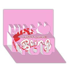 Hotline Bling Miss You 3d Greeting Card (7x5) by Onesevenart