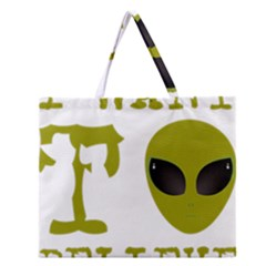 I Want To Believe Zipper Large Tote Bag by Onesevenart