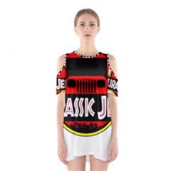Jurassic Jeep Park Cutout Shoulder Dress by Onesevenart