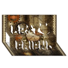 Wonderful Steampunk Design With Clocks And Gears Best Friends 3d Greeting Card (8x4)