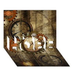 Wonderful Steampunk Design With Clocks And Gears Hope 3d Greeting Card (7x5) by FantasyWorld7