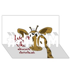 Giraffe Joke #1 Mom 3d Greeting Cards (8x4)