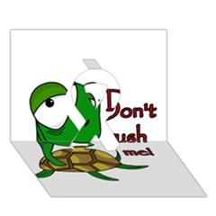 Turtle Joke Ribbon 3d Greeting Card (7x5) by Valentinaart