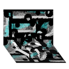 Blue Shadows  Love Bottom 3d Greeting Card (7x5) by Valentinaart