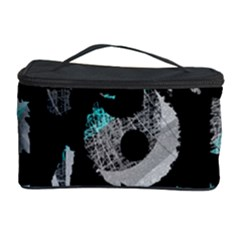 Blue Shadows  Cosmetic Storage Case by Valentinaart