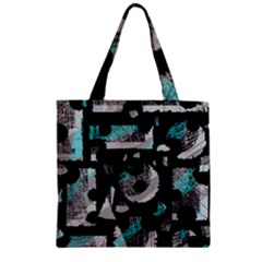Blue Shadows  Zipper Grocery Tote Bag by Valentinaart