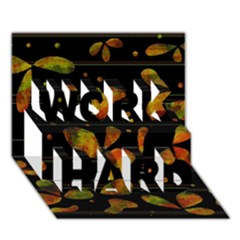 Floral Abstraction Work Hard 3d Greeting Card (7x5) by Valentinaart