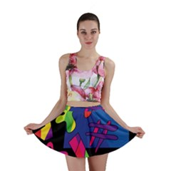 Colorful Shapes Mini Skirt by Valentinaart