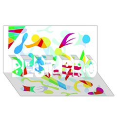 Playful Shapes Best Bro 3d Greeting Card (8x4) by Valentinaart