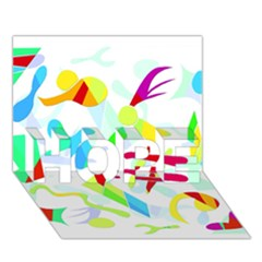 Playful Shapes Hope 3d Greeting Card (7x5)